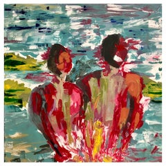 'Both Us' Oil and Acrylic on Canvas by Paul Hervey-Brookes