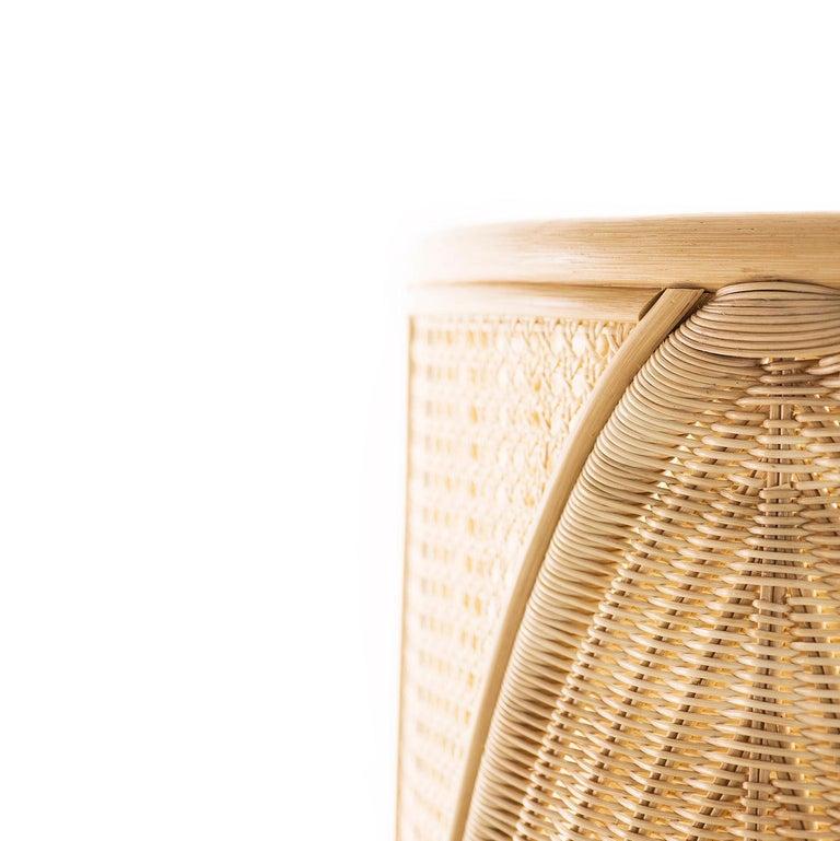 Italian Bottega Intreccio Lisetta Woven Wicker 21st Century Armchair, Elena Salmistraro For Sale