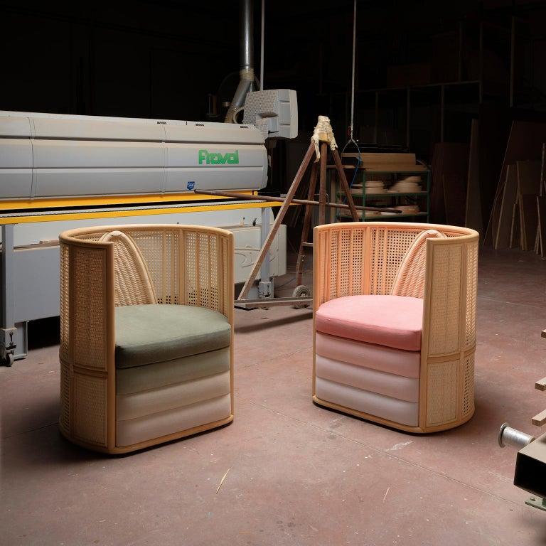 Bottega Intreccio Lisetta Woven Wicker 21st Century Armchair, Elena Salmistraro In New Condition For Sale In Mogliano, Macerata