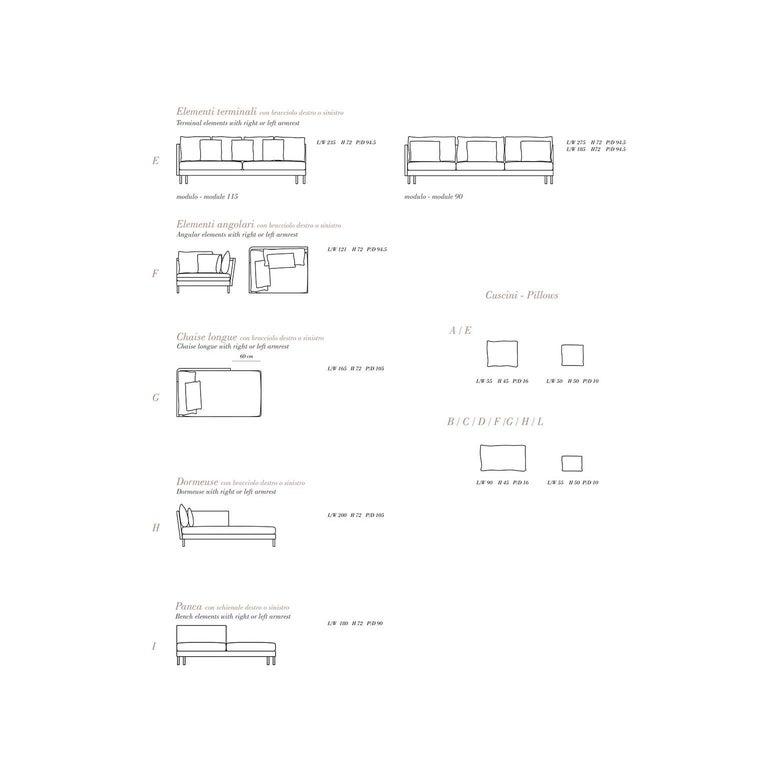 Contemporary Bottega Intreccio Milli 280 Three-Seat Sofa Woven Wicker 21st Century Sofa For Sale