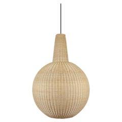 Bottega Intreccio Sfera Pendant in Bamboo Wicker, by Maurizio Bernabei