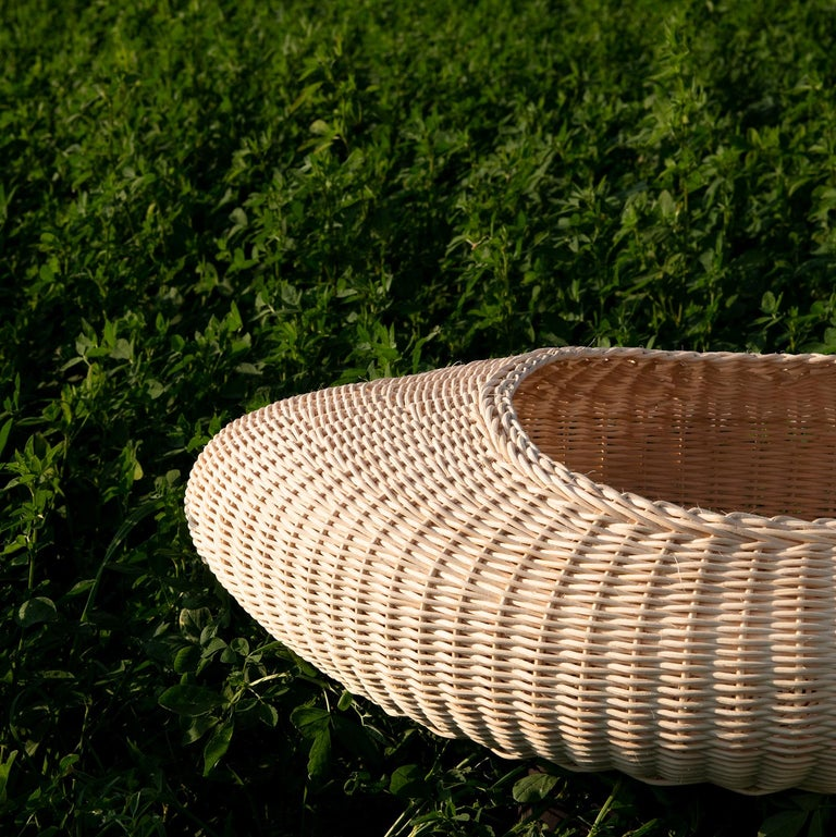 Bottega Intreccio Shizé Woven Wicker 21st Century Centrepiece, Setsu&ShinobuIto In New Condition For Sale In Mogliano, Macerata
