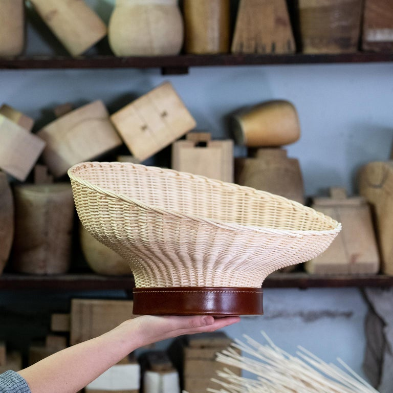 Arts and Crafts Bottega Intreccio Woven Wicker 21st Century Mawa Centerpiece, by Setsu & Shinobu For Sale