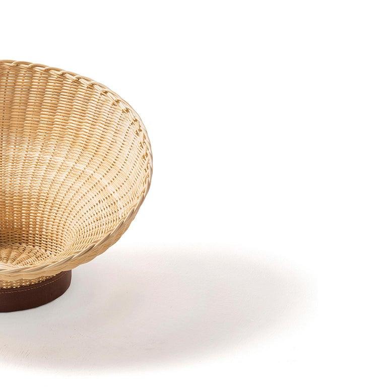 Contemporary Bottega Intreccio Woven Wicker 21st Century Mawa Centerpiece, by Setsu & Shinobu For Sale