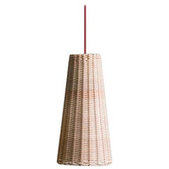Bottega Intreccio Woven Wicker Caratteri, Seia 35 Pendant Lamp, by M. Bernabei