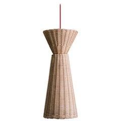 Bottega Intreccio Woven Wicker Caratteri, Vicevera Pendant Lamp, by M. Bernabei