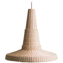 Bottega Intreccio Woven Wicker Caratteri Cocolla Pendant Lamp, by M. Bernabei