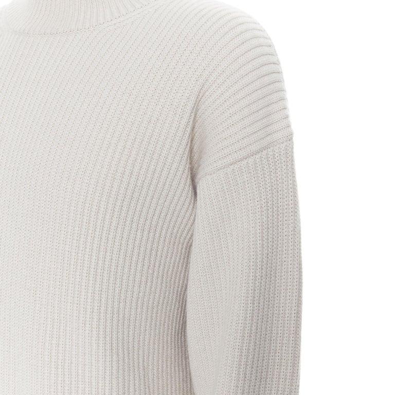 BOTTEGA VENETA 100% cashmere taupe beige oversized turtleneck sweater IT48 M For Sale 3
