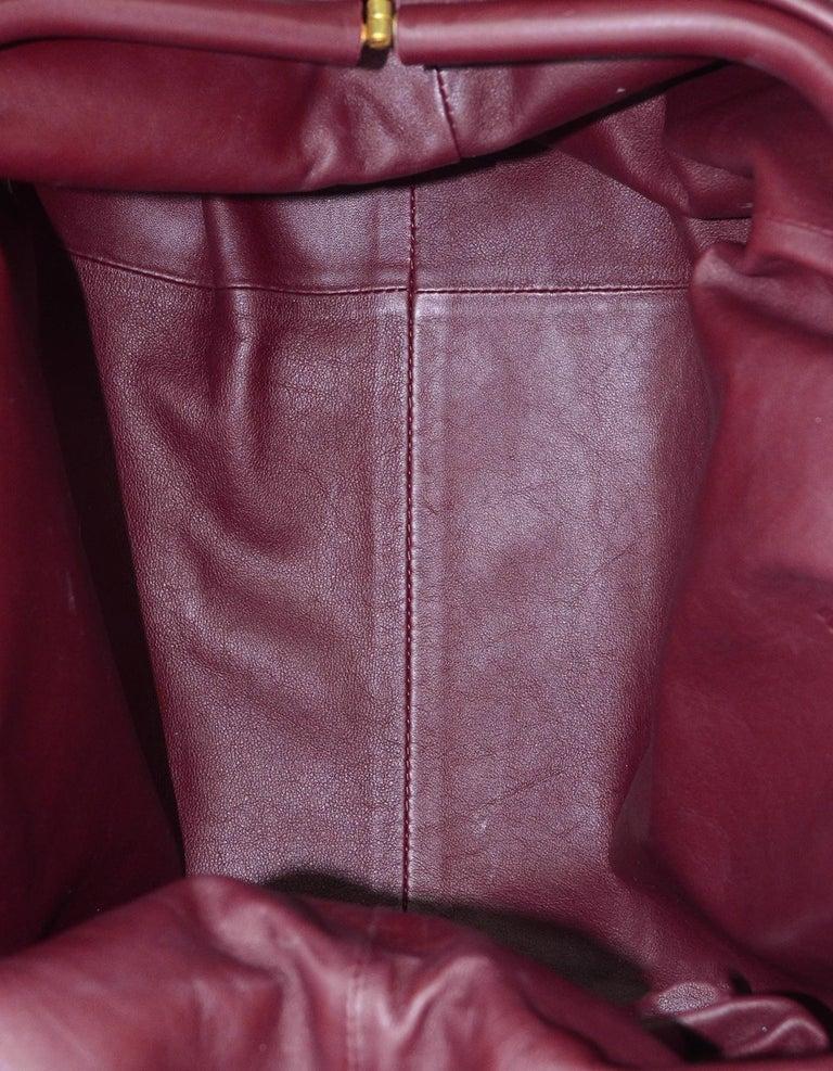 Bottega Veneta 2019 Burgundy Smooth Calfskin The Pouch Oversized Clutch Bag For Sale 1