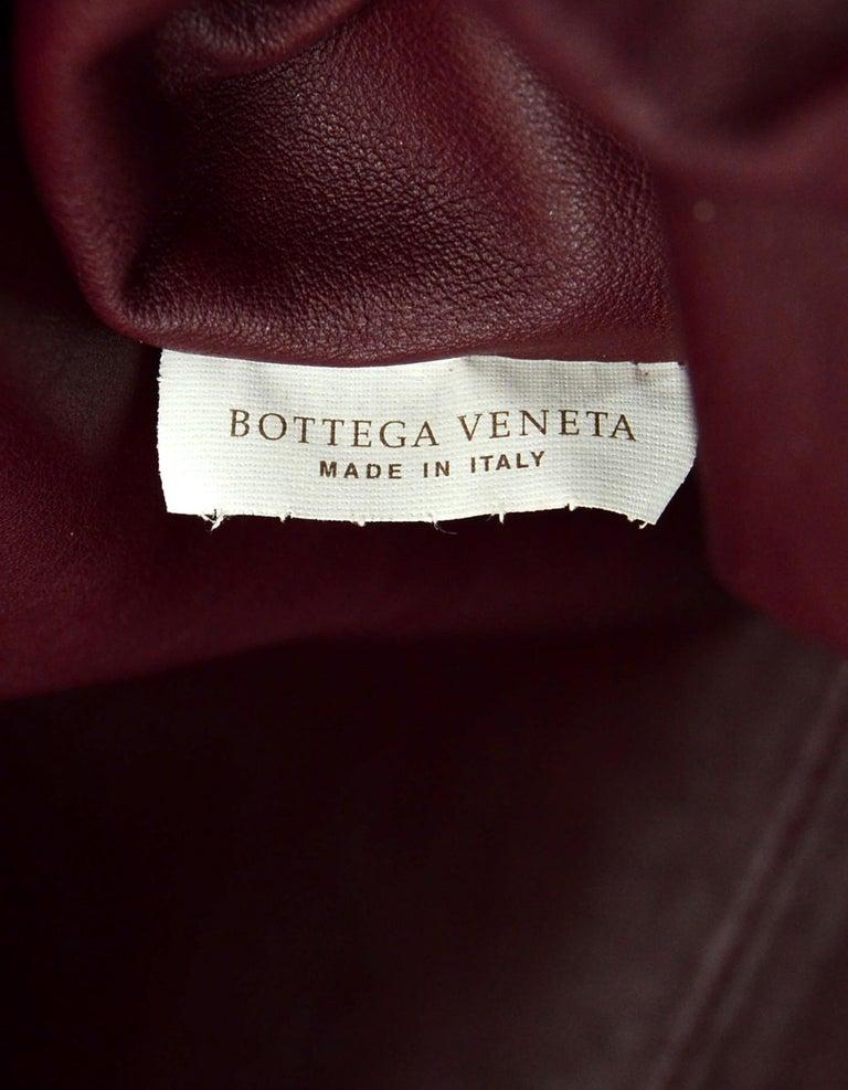 Bottega Veneta 2019 Burgundy Smooth Calfskin The Pouch Oversized Clutch Bag For Sale 2