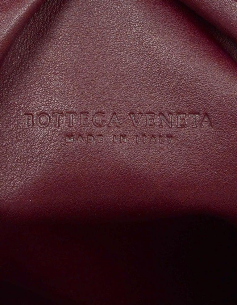 Bottega Veneta 2019 Burgundy Smooth Calfskin The Pouch Oversized Clutch Bag For Sale 4