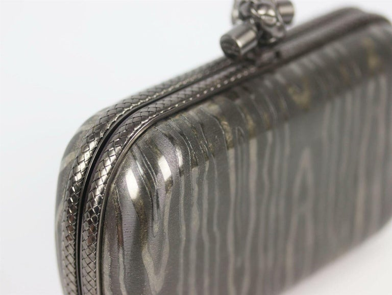 Bottega Veneta 50th Anniversary Limited Edition The Knot Sterling Silver Clutch For Sale 1