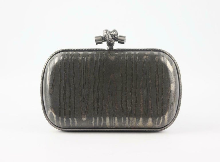 Bottega Veneta 50th Anniversary Limited Edition The Knot Sterling Silver Clutch For Sale 2