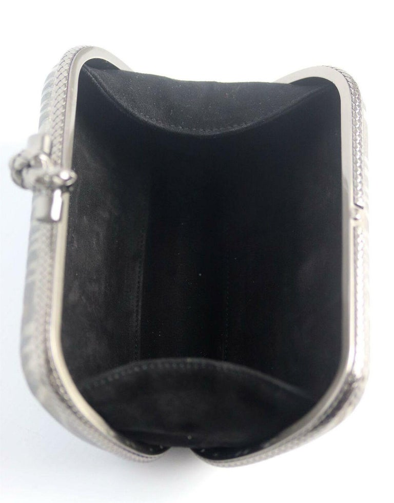 Bottega Veneta 50th Anniversary Limited Edition The Knot Sterling Silver Clutch For Sale 4