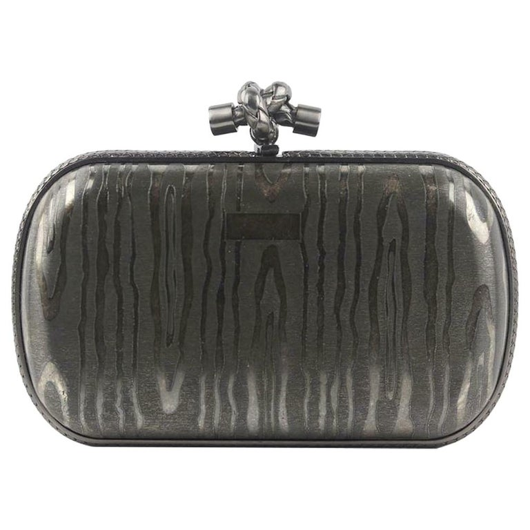 Bottega Veneta 50th Anniversary Limited Edition The Knot Sterling Silver Clutch For Sale