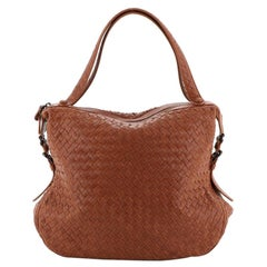 Bottega Veneta 76 Shoulder Bag Intrecciato Goatskin Medium