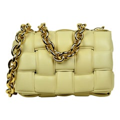 Bottega Veneta Almond Intrecciato Woven Leather The Chain Cassette Bag rt $3,990