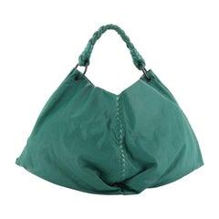 Bottega Veneta Aquilone Fortune Cookie Hobo Leather With Intrecciato Detail Larg