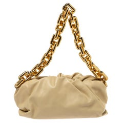Bottega Veneta Beige Leather The Chain Pouch Bag