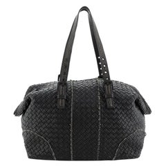 Bottega Veneta Belted Cabas Tote Intrecciato Nappa with Stitched Detail S
