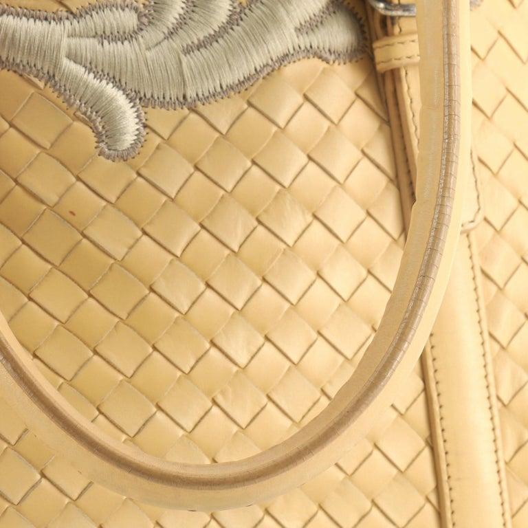 Bottega Veneta Belted Cabat Tote Embroidered Intrecciato Nappa For Sale 2