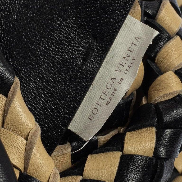 Bottega Veneta Black/Beige Intrecciato Leather Limited Edition 234/500 Cabat Tot 1