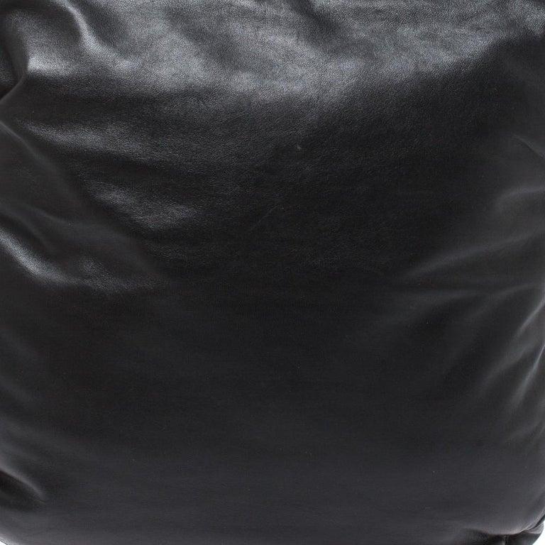 Bottega Veneta Black/Brown Leather and Croc Hobo For Sale 7