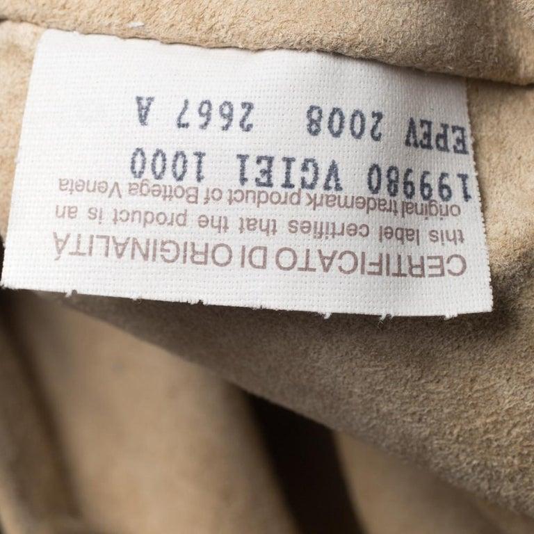 Bottega Veneta Black/Brown Leather and Croc Hobo For Sale 5