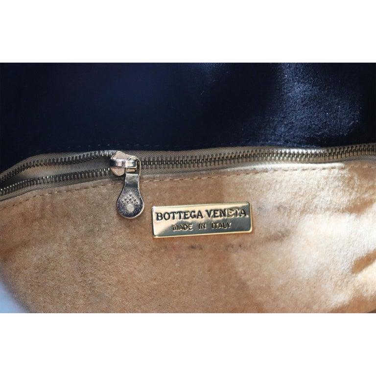 Bottega Veneta Black Classic Woven Drawstring Bag  For Sale 6