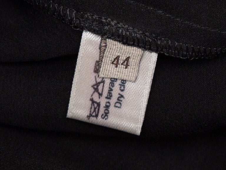 Bottega Veneta Black & Grey Silk Short Sleeve Top For Sale 2