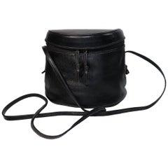 Bottega Veneta Black Half Circle, Binocular Style Crossbody Handbag