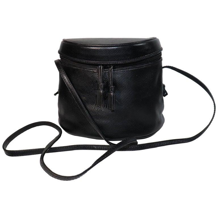 Bottega Veneta Black Half Circle, Binocular Style Crossbody Handbag  For Sale