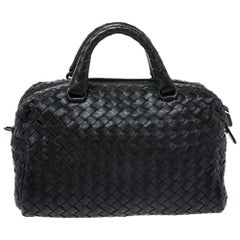 Bottega Veneta Black Intrecciato Leather Crossbody Bag