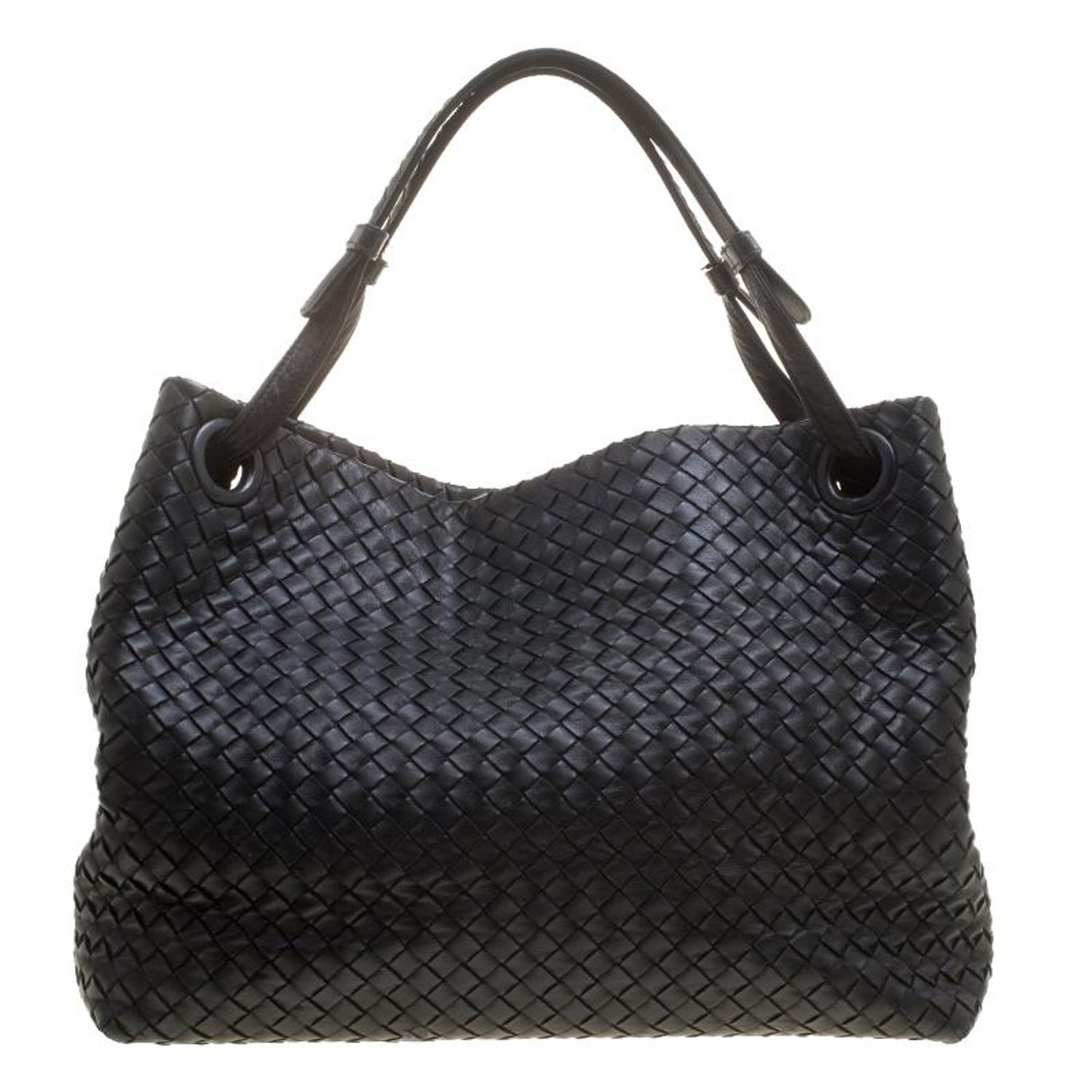 03f765f99a7f Bottega Veneta Black Intrecciato Leather Tote For Sale at 1stdibs