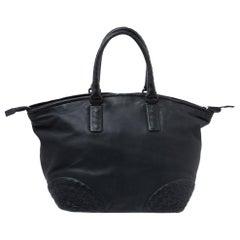 Bottega Veneta Black Leather Satchel