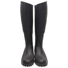 Bottega Veneta Black Rain Boots