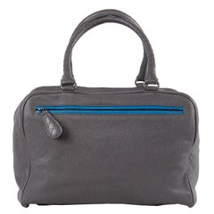 BOTTEGA VENETA blue & grey leather BRERA Bag