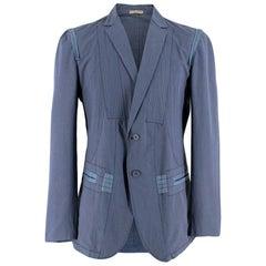 Bottega Veneta Blue Light-Weight Single-Breasted Jacket Size Large 52