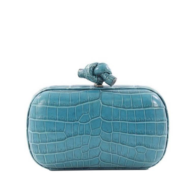 Bottega Veneta Small Knots Crocodile Clutch
