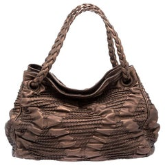 Bottega Veneta Bronze Pleated Leather Limited Edition 029/200 Hobo
