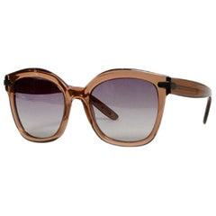 Bottega Veneta Brown Acetate BV 218/S Large Frame Sunglasses
