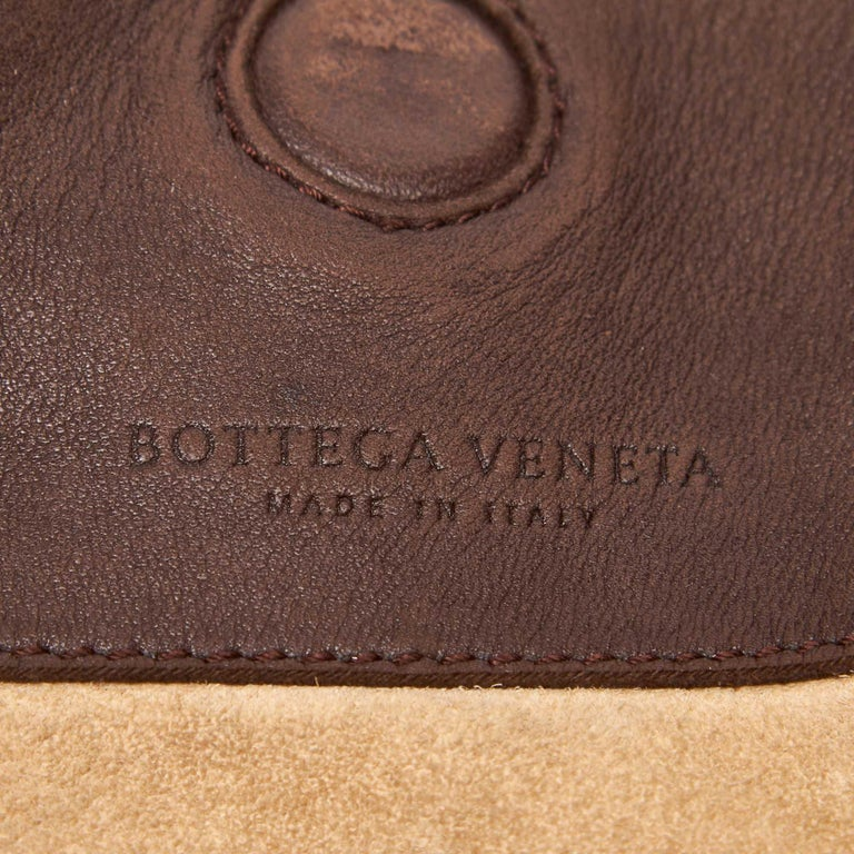 935cbb59a3aa Bottega Veneta Brown Intrecciato Campana Hobo Bag at 1stdibs