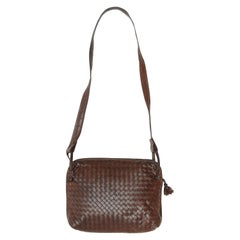 Bottega Veneta Brown Intrecciato Leather Bag