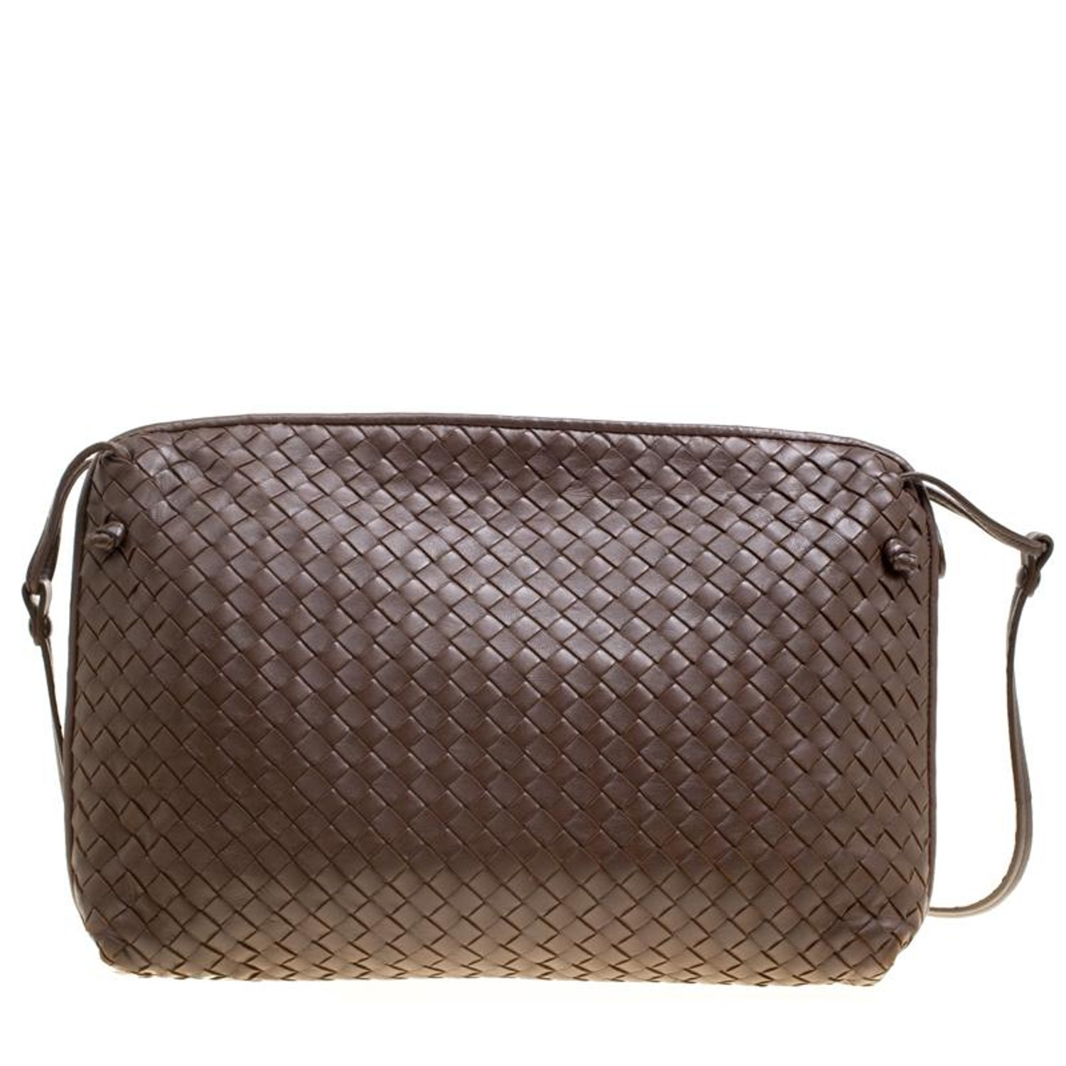 Bottega Veneta Brown Intrecciato Leather Nodini Shoulder Bag For Sale at  1stdibs 07708bbaf4cfd