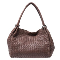 Bottega Veneta Brown Intrecciato Leather Parachute Shoulder Bag