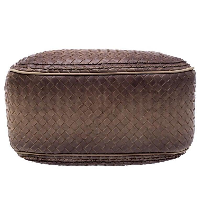 Bottega Veneta Brown Intrecciato Leather Satchel For Sale 1