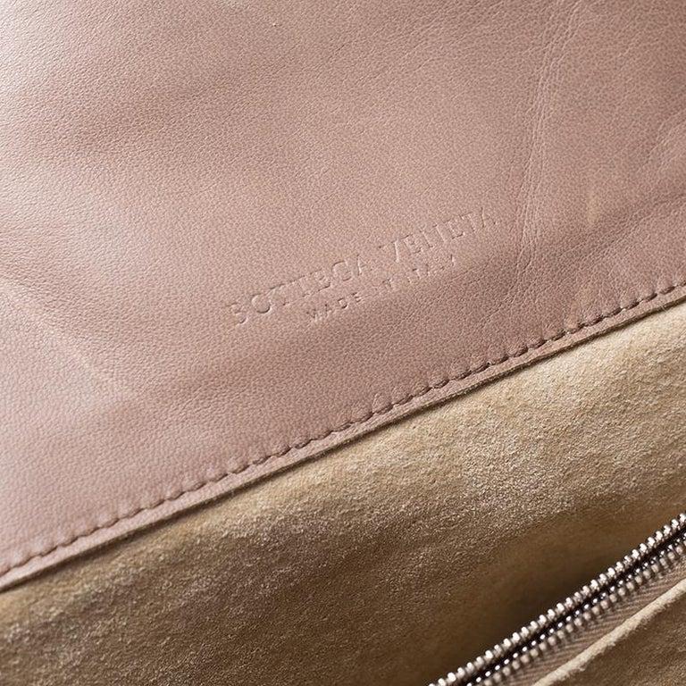 Bottega Veneta Brown Intrecciato Leather Satchel For Sale 3
