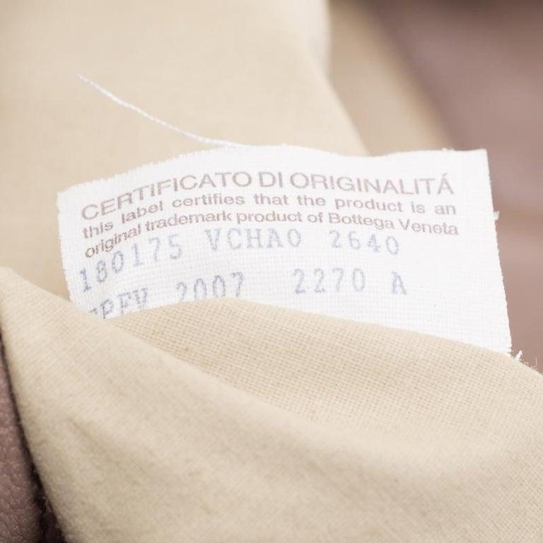 Bottega Veneta Brown Intrecciato Leather Satchel For Sale 5