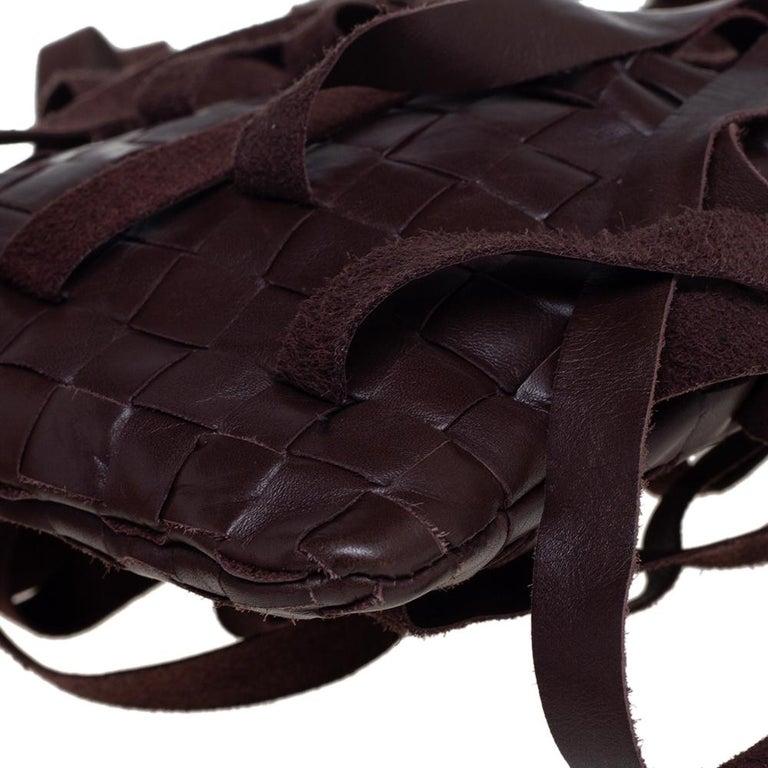 Bottega Veneta Brown Leather Fringe Small Pouch For Sale 2