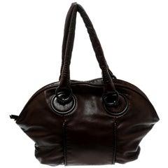 Bottega Veneta Brown Leather Hobo